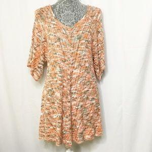 DressBarn Sweater Top Tunic Chunky Open Weave XL